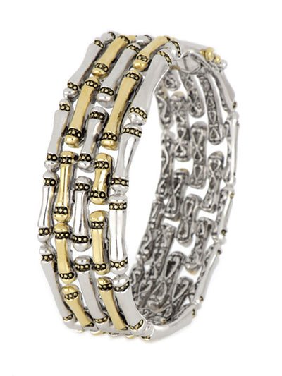 Canias Original Collection Five Row Hinged Bangle Bracelet