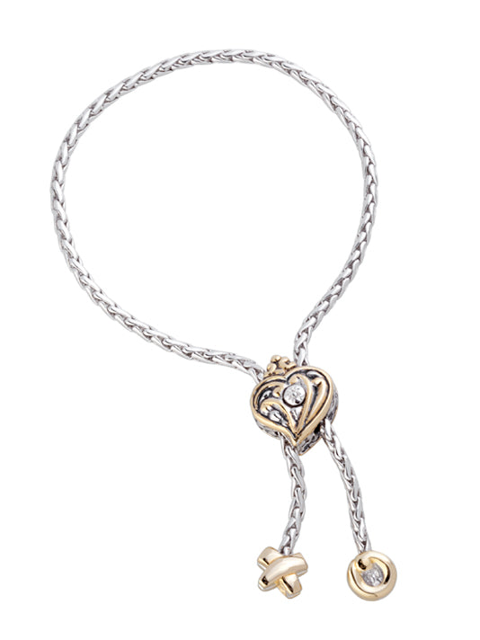 Viana Filigree Heart Adjustable Bracelet