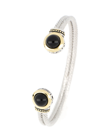 Genuine Black Onyx Cuff Bracelet