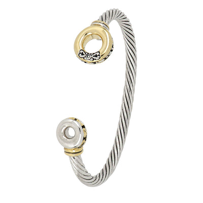 Ciclo D'Amor Two Tone Cuff Bracelet