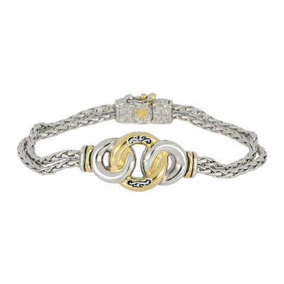 Ciclo D'Amor Two Tone Double Strand Bracelet