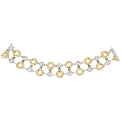 Ciclo D'Amor Multi Circle Double Row Two Tone Bracelet
