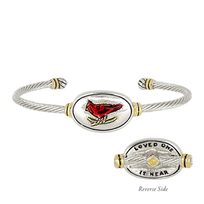 Celebration Memories Red Cardinal Wire Cuff Bracelet
