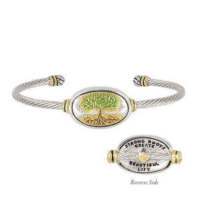 Celebration Memories Tree of Life Wire Cuff Bracelet