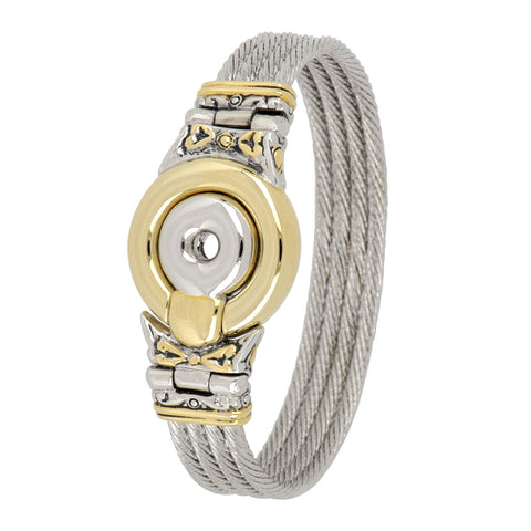 Ciclo D'Amor Two Tone Large 4 Wire Magnetic Clasp Bracelet