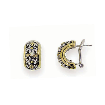 Twisted Bead Collection Small Post Clip Earrings