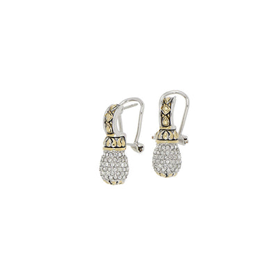 Briolette Pavé Drop Post with Clip Earrings
