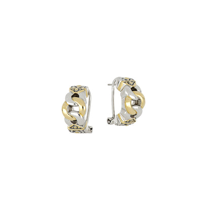 Antiqua Three Circle Post Clip Earrings
