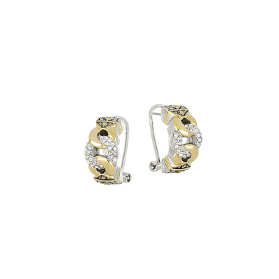 Antiqua Three Circle Pavé Post Clip Earrings - John Medeiros Jewelry Collections