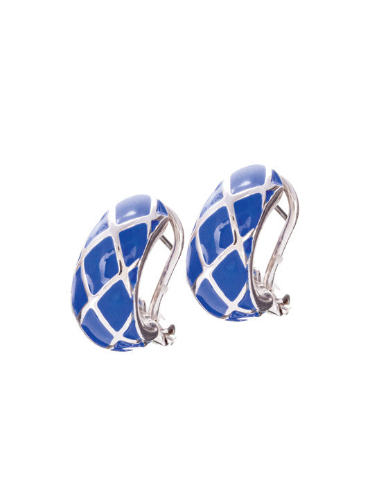 Lattice Collection Omega Clip Post Earrings