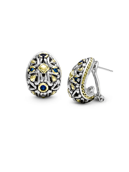 O-Link Collection Filgree CZ Post Clip Earrings