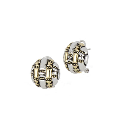 Canias Collection Round Omega Clip Post Earrings