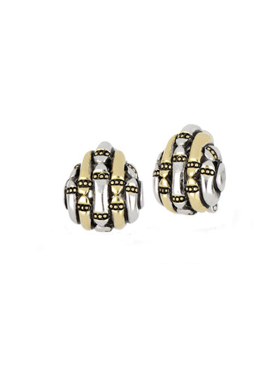 Canias Collection Teardrop Omega Clip Post Earrings