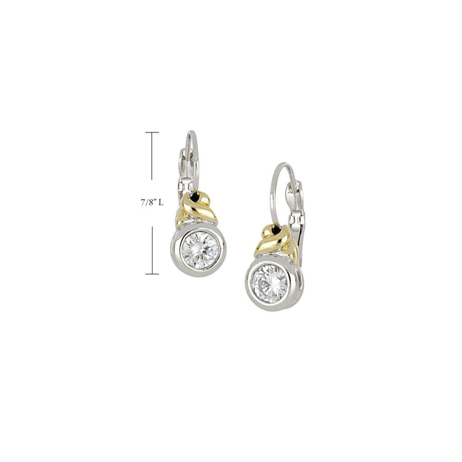 Antiqua CZ French Wire Earrings