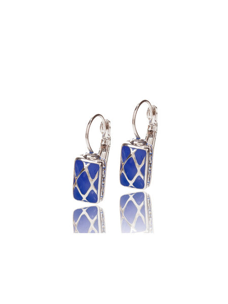 Lattice Collection Small Rectangle Earrings