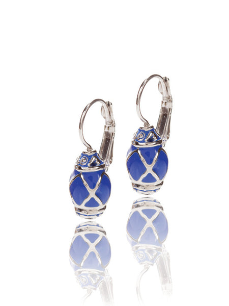Lattice Collection Barrel Clip Earrings