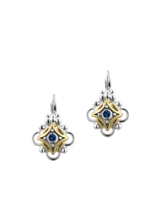 O-Link Collection Indigo French Wire Lever Back Earrings