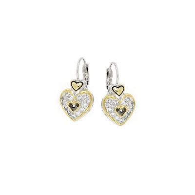 Heart Collection Pavé French Wire Earrings