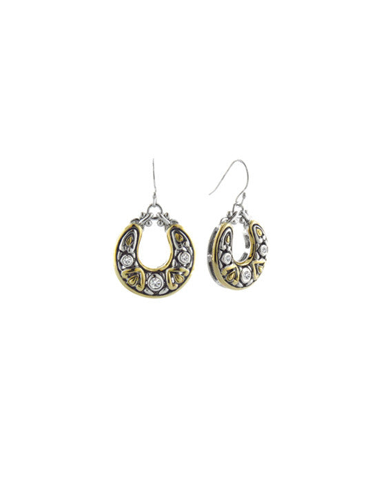 O-Link Collection Filigree CZ Fish Hook Earrings