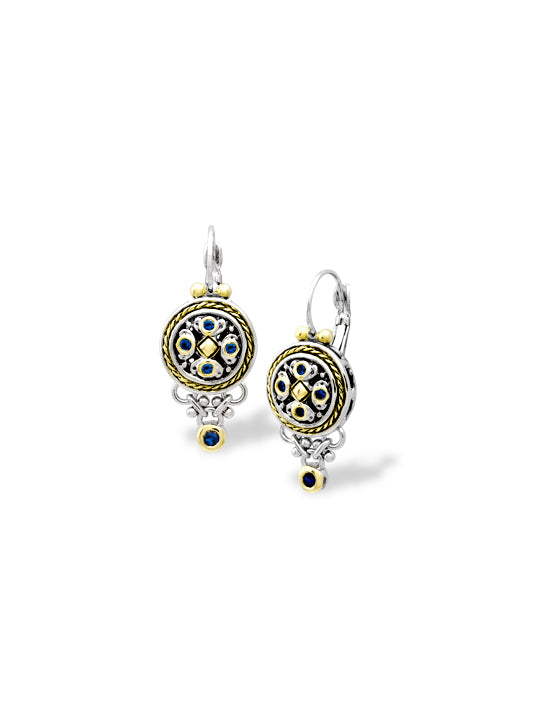 O-Link Collection Indigo Small Drop CZ French Wire Earrings