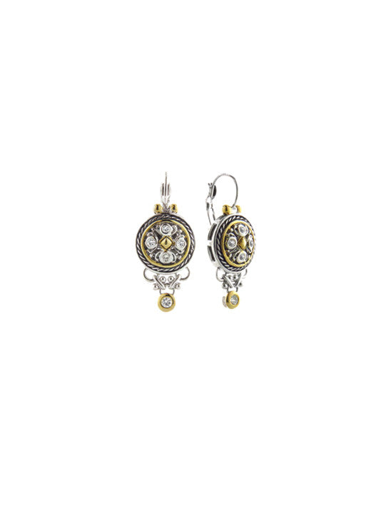 O-Link Collection Small Drop CZ French Wire Earrings