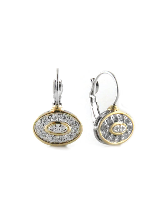 O-Link Collection French Wire Filigree Oval CZ Earring