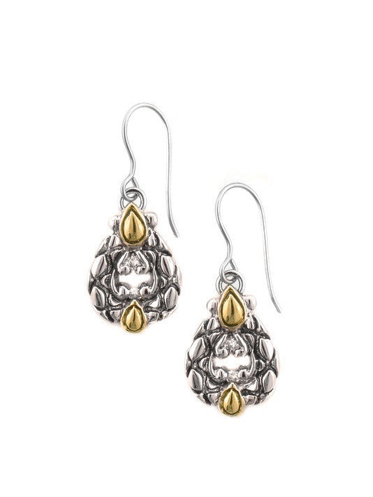 Lattice Collection - Palermo Edition - CZ French Wire Earrings