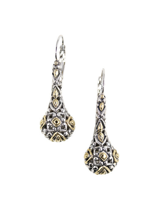 Lattice Collection - Palermo Edition - Two Tone Drop French Wire Earrings