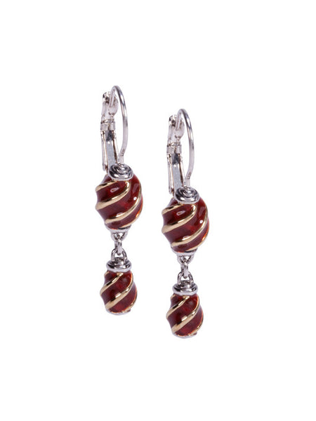 Lattice Collection - Carnelian French Wire Drop Earrings