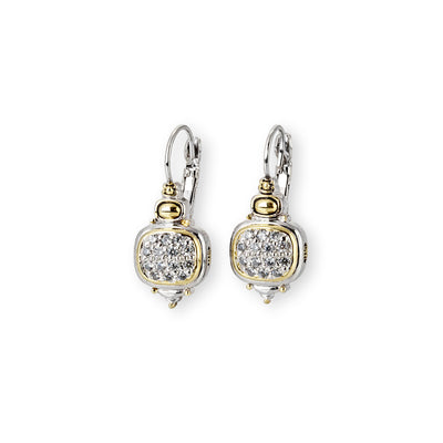 Nouveau CZ French Wire Earrings - John Medeiros Jewelry Collections