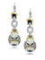 Anvil - Timeless French Wire Drop Earrings with Pavé