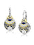 Anvil - Timeless Round French Wire Drop Star Earrings with Pavé