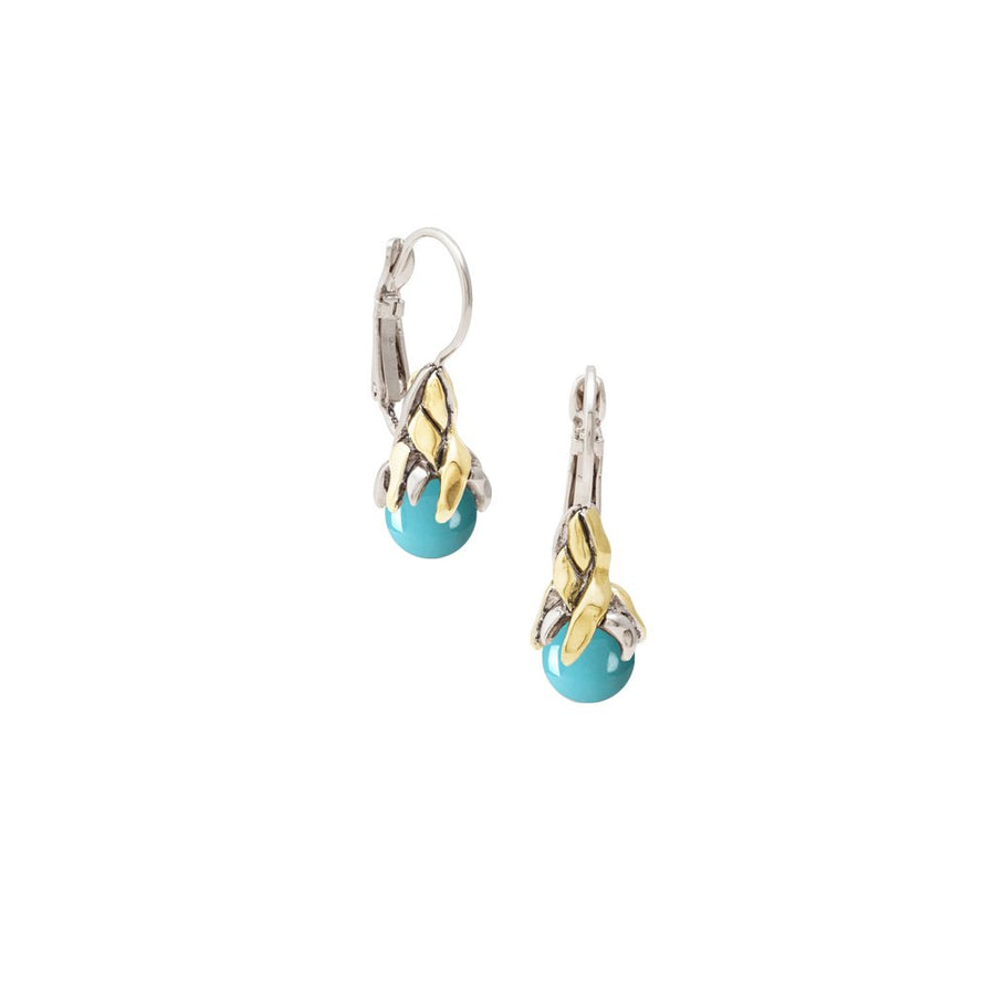 John Medeiros Aqua Viva French Wire Clip Earrings