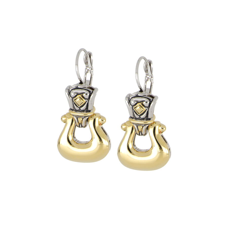 Anvil Gold Horseshoe French Wire Earrings