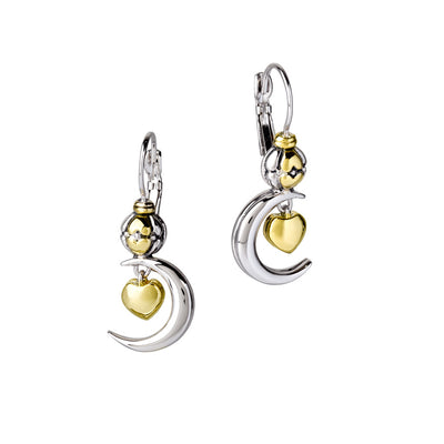Celebration Collection Heart in Moon Earrings