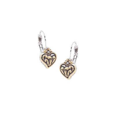 Viana Filigree Heart Small French Wire Earrings