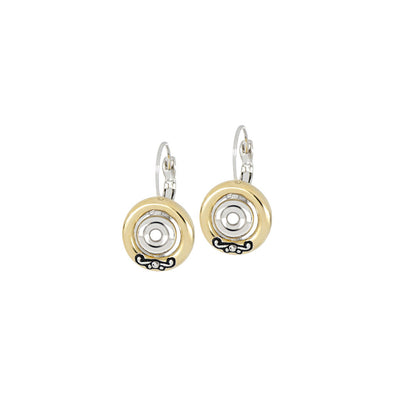 Ciclo D'Amor Two Tone Inset French Wire Earrings