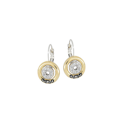 Ciclo D'Amor Pavé & Gold Inset French Wire Earrings