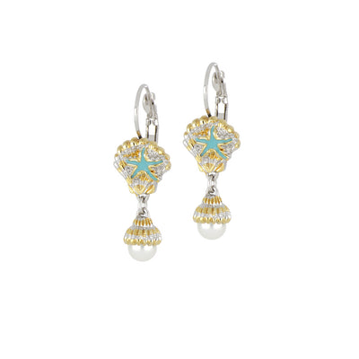 Caraíba Collection White Pearl Shell French Wire Earrings