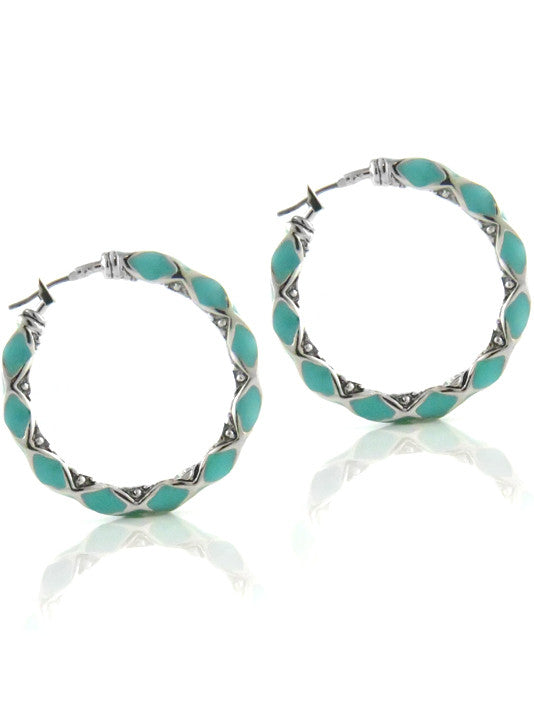 Lattice Collection Large Hoop Earrings