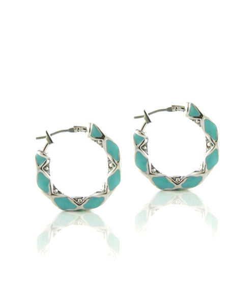 Lattice Collection Small Hoop Earrings