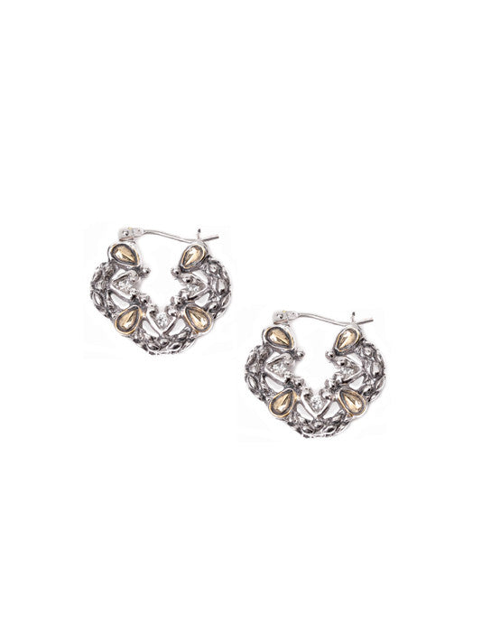 Lattice Collection - Palermo Edition - Quatrefoil Round Hook Earrings