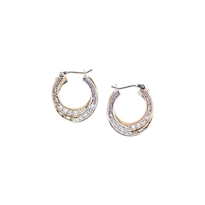 Infinity Collection Pavé Small Hoop Earrings