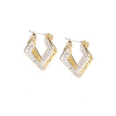 Infinity Collection Pavé Double Diamond Hoops - John Medeiros Jewelry Collections