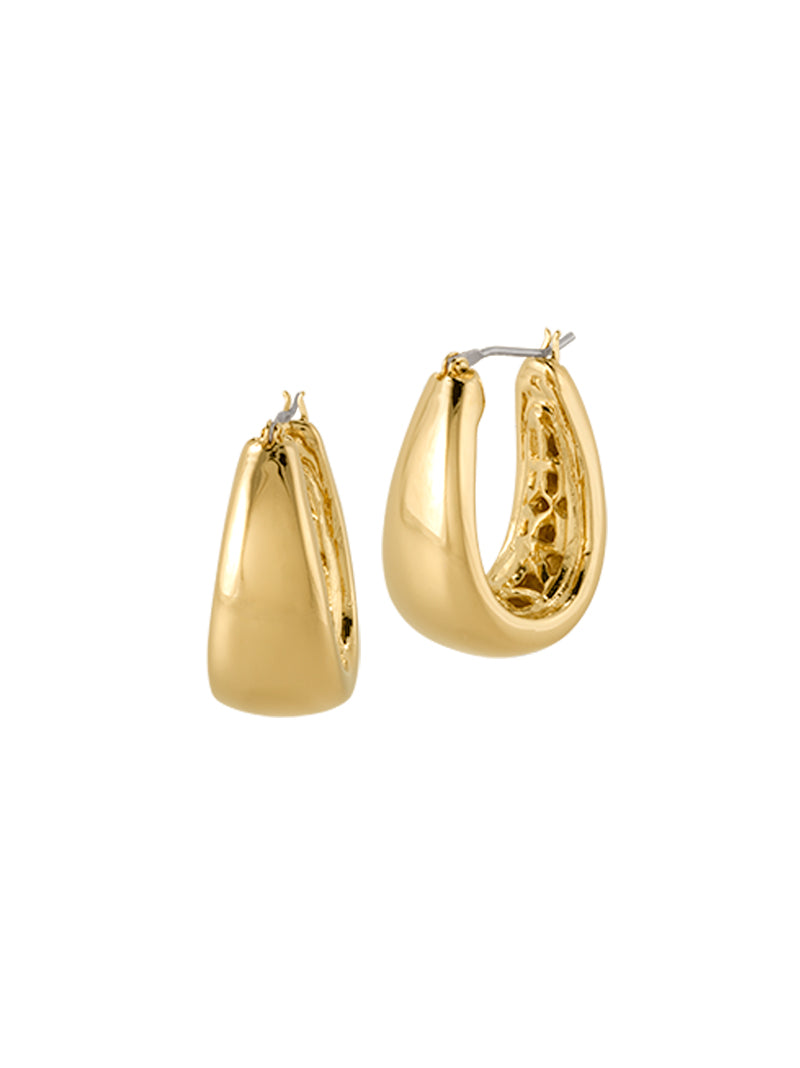 Antiqua Tailored Series Large Gold Earrings