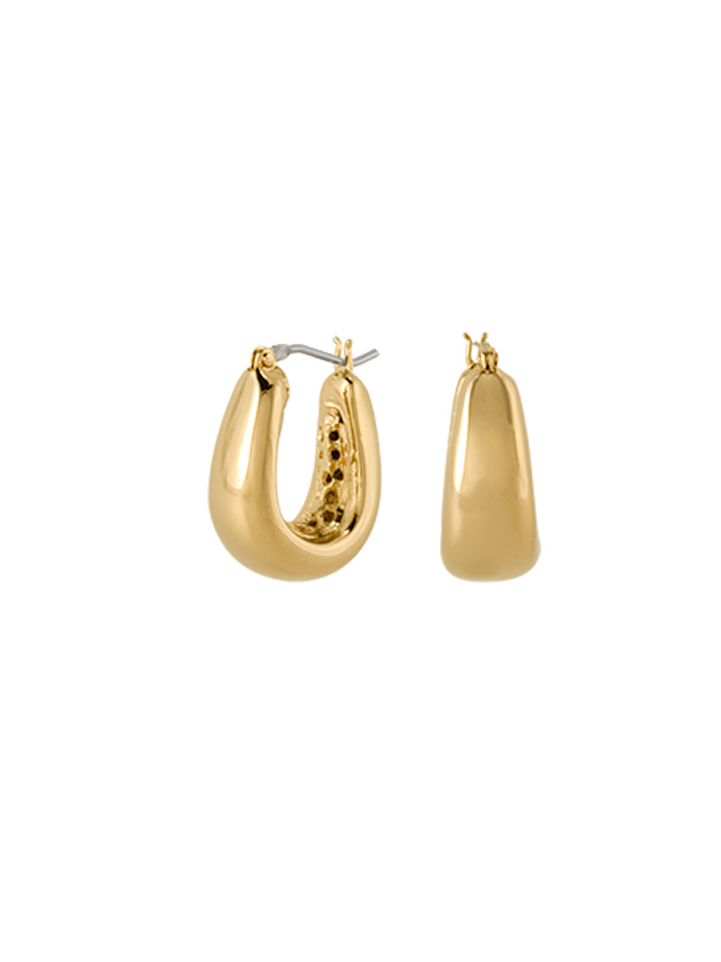 Antiqua Tailored Series Small Gold Earrings