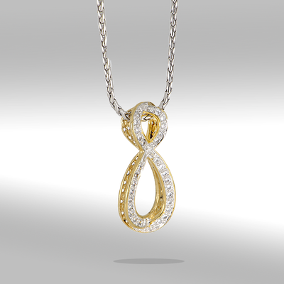 Infinity Collection Pavé Enhancer with Chain Necklace - John Medeiros Jewelry Collections