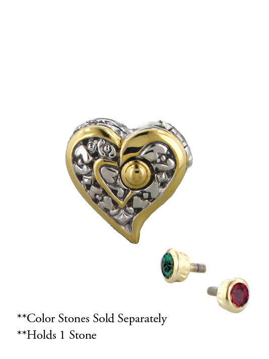 John Medeiros Celebration Interchangeable Stone Collection - Reversible Heart Slider