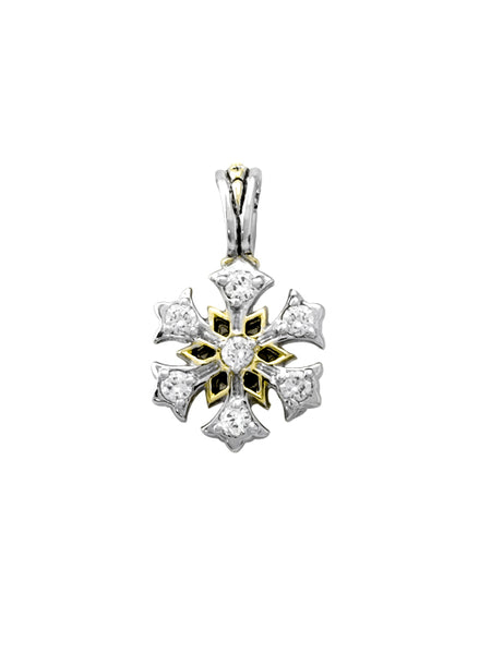 Snowflake Charm by John Medeiros Jewelry Collections. Necklace Sold Seperately.