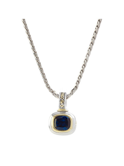 Nouveau Indigo Slider Charm with Chain